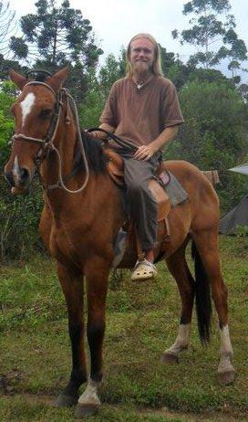 My horse Heimdall and I in the Brazilian horse caravan.